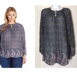 Lucky Brand Women's Peasant Blouse. Size 2X